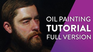 Tutorial: Painting alla prima oil portrait from the photo
