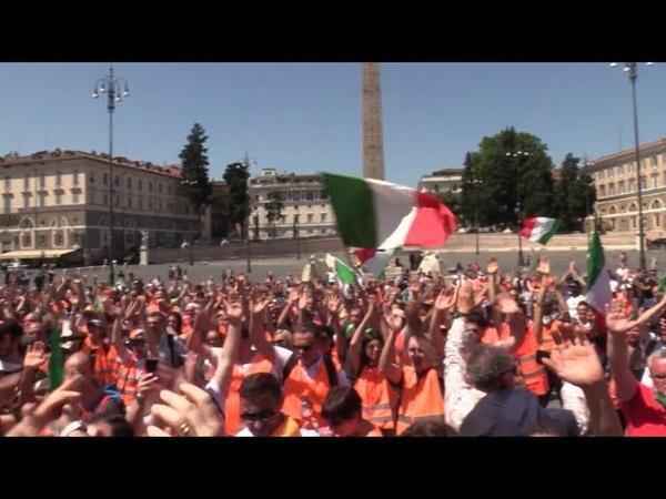 Italien Orange Westen wollen Regierung stürzen Die Leute haben dieses Europa satt