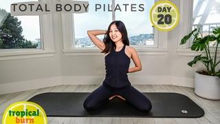 День 20: Супер-тренировка всего тела. TROPICAL BURN 🔥 SUPER TOTAL BODY WORKOUT || Day 20 🍍 30 Days of Pilates Series