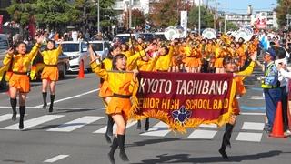 Kyoto Tachibana SHS Band 長岡京ガラシャ祭パレード2019 京都橘高校吹奏楽部