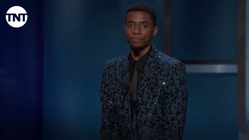 Chadwick Boseman Tribute to Denzel Washington AFI 2019 TNT