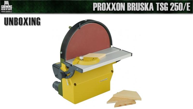 UNBOXING - Čelní kotoučová bruska PROXXON TSG 250E