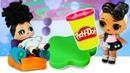Видео для детей Мир LoL. Куклы ЛоЛ затеяли игры с Плей До Play Doh. Видео про Лепку из пластилина