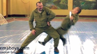 The work with the stick № 9. Plastoon martial art, fighting system of Leonid Polezhaev.