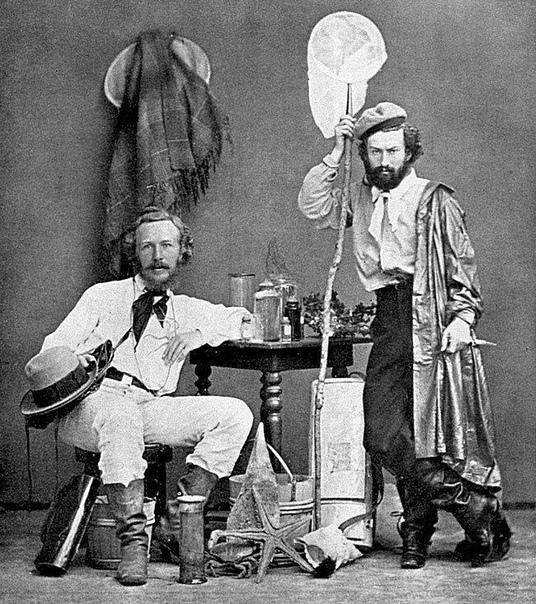 Эрнст Геккель (слева) и Миклухо-Маклай на Канарских островах. Декабрь 1866 года.