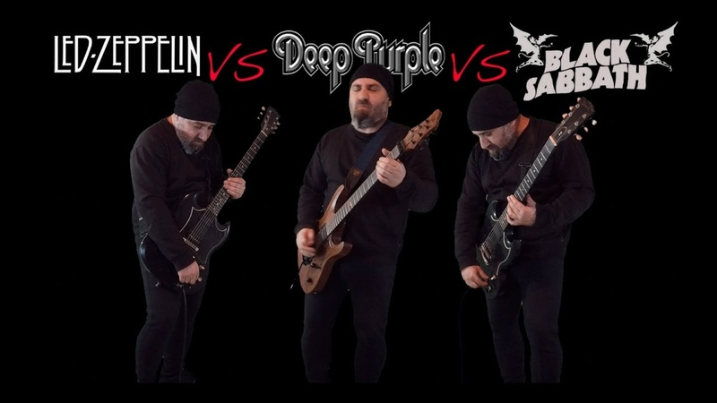 Led Zeppelin VS Deep Purple VS Black Sabbath (Guitar Riffs Battle)
