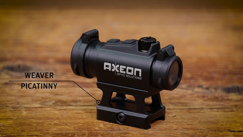 Axeon Optics MDSR1 Mini Dot Sight with Riser for Modern Sporting Rifle