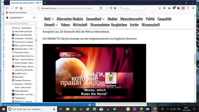 Russisches Fernsehen stellt die Rothschild Familie bloß und fängt an aufzuklären Vereinigte Scharfschützen Bewegung