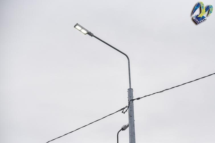 Сегодня в Мурманске на улице Загородной были завершены работы по устройству наружного освещения.