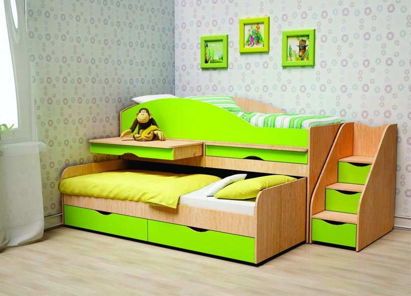 Плюсы и минусы двухъярусных выдвижных кроватей, популярные дизайны, изображение №5