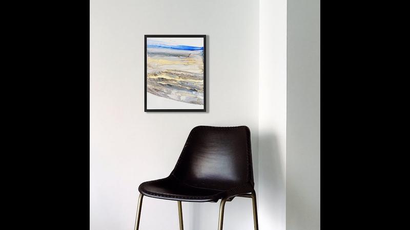 Картина с золотом для интерьера Маленький блик 30х40 см серия Склоны
