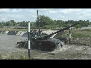 Практическое занятия по подводному вождению с танкистами армейского корпуса Балтийского флота