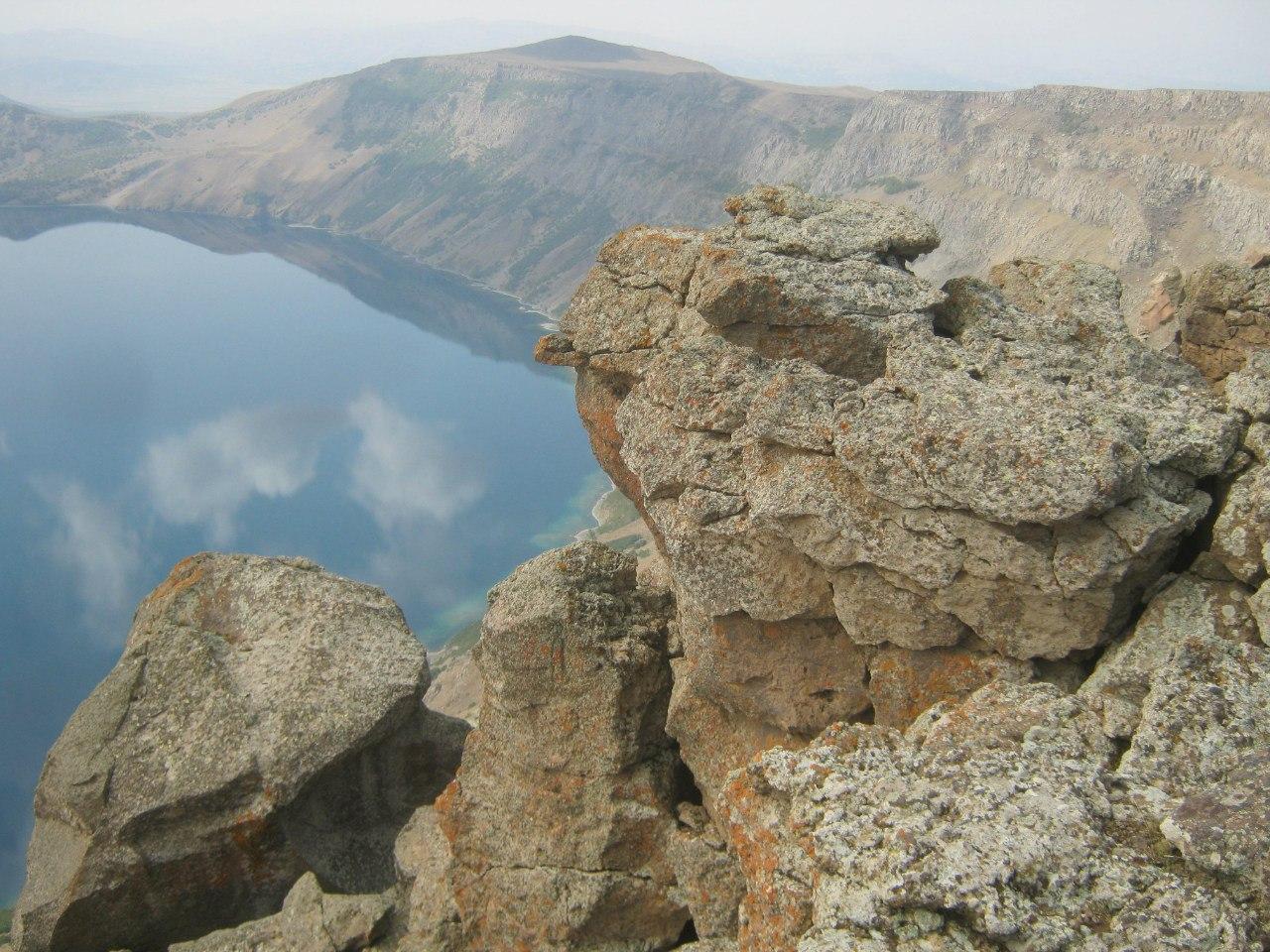 Lake Nemrut inside the crater of former volcano of Nemrut
