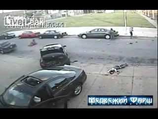 Пьяные подростки угнали авто и сбили пешеходов