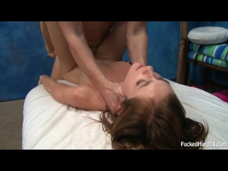 Little bitch emma stoned gets oiled and fucked