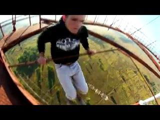 Видео-Подборка реально страшных и отмороженных трюков на высоте Человек Па167682130