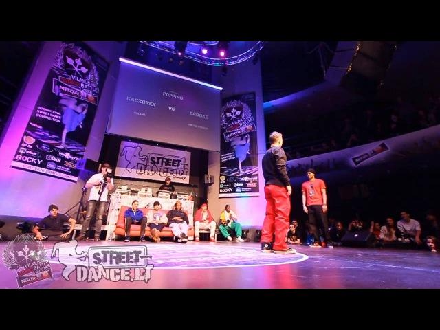 13 Popping 1vs1 Quarter Finals Brooke vs Kaczorex @Vilnius Street Battle 2013