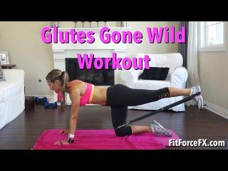 Glutes Gone Wild: Resistance Band Leg & Booty Workout #buttlift #gluteworkout #brazillianbuttworkout