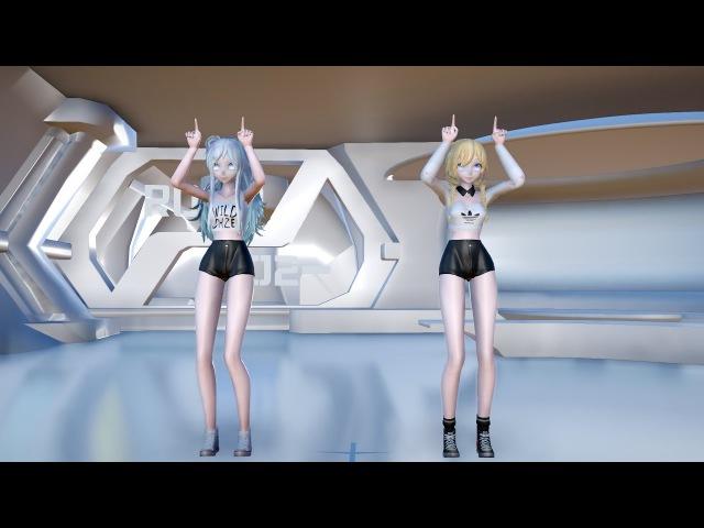 [MMD]1775 TDA V-Girl Miku Rin Leave In Summer[DL][1080P,60FPS][RAY MMD]