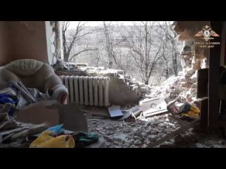 Тяжелый обстрел поселка Донецк Северный