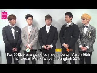 130201 SHINee - Greeting Message Korean Music Wave  in Bangkok 2013