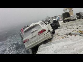 Как Говорится из Японии без пробега, не битая , не крашеная. (Смыло 52 машины в шторм Япония - Владивосток)