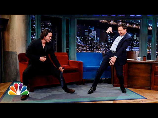 Keanu Reeves Defends Jimmy's T'ai Chi Late Night with Jimmy Fallon