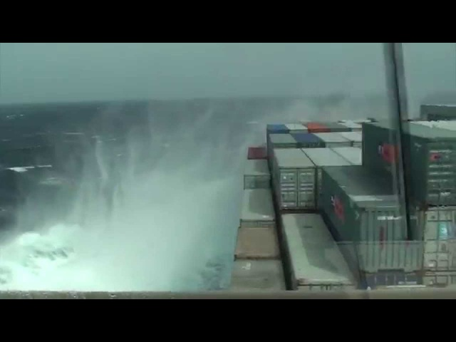 Stress and effect on a vessel in severe weather conditions
