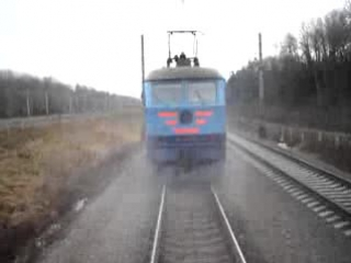 Испытания пассажирского вагона, на экстренное торможение при разрыве состава