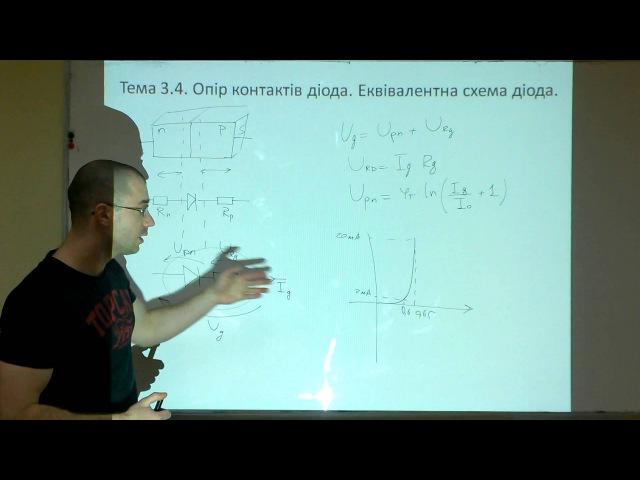 Лекція 6 Тема 3 3 Опір контактів та ємність діода Еквівалентна схема діода