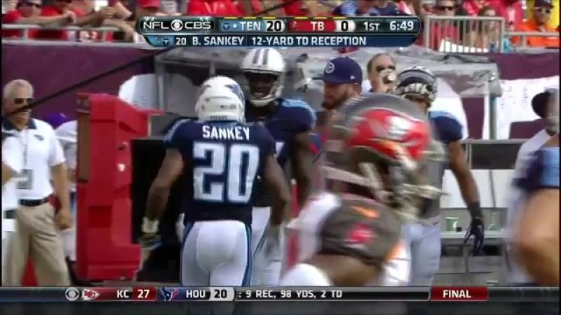 Titans Marcus Mariota finds Bishop Sankey for 10 yard TD