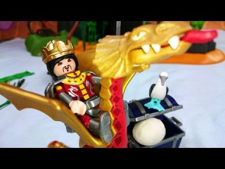 Мультик КАК ПРИРУЧИТЬ ДРАКОНА: рыцарь Артур снимает заклятье, конструктор Playmobil