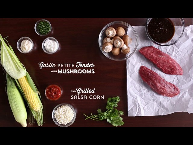 Publix Aprons Cooking School Garlic Petite Tender with Mushrooms and Grilled Corn Salsa