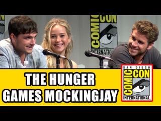 The Hunger Games Mockingjay Part 2 Comic Con Panel - Jennifer Lawrence, Josh Hutcherson & Cast