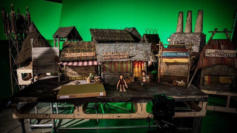 On the Shooting Set of Aardman Animations Early Man!