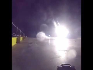 Footage of the almost successful SpaceX barge landing