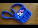 Вязаная сумочка с КИТТИ. Knitted Handbag Kitty.