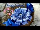 МК DIY Kanzashi flower Бант на виписку з роддому