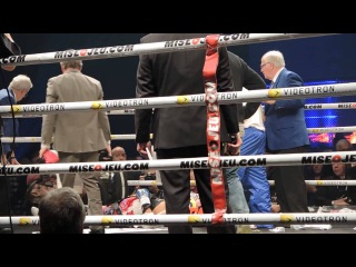 Roberto Bolonti stretchered off after being knocked out by Jean Pascal FAKE?