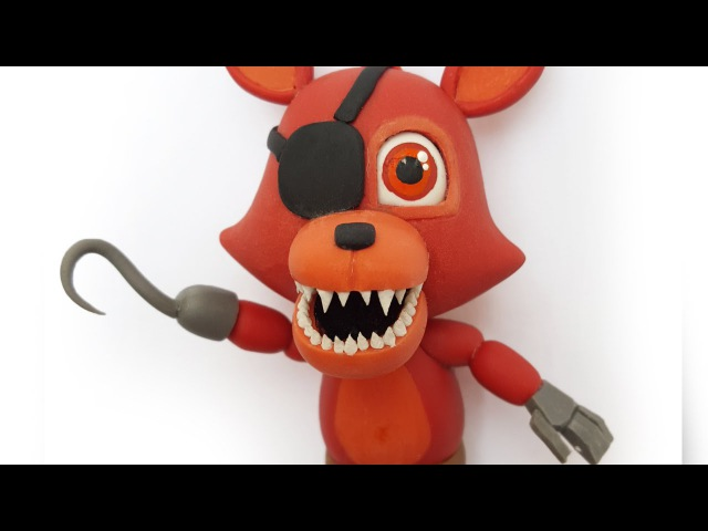FOXY FNAF WORLD TUTORIAL ✔PORCELANA FRIA ✔POLYMER CLAY ✔PLASTILINA