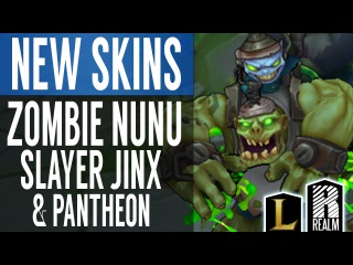 ® Zombie Nunu, Slayer Jinx & Slayer Pantheon (LoL Skin Spotlight)