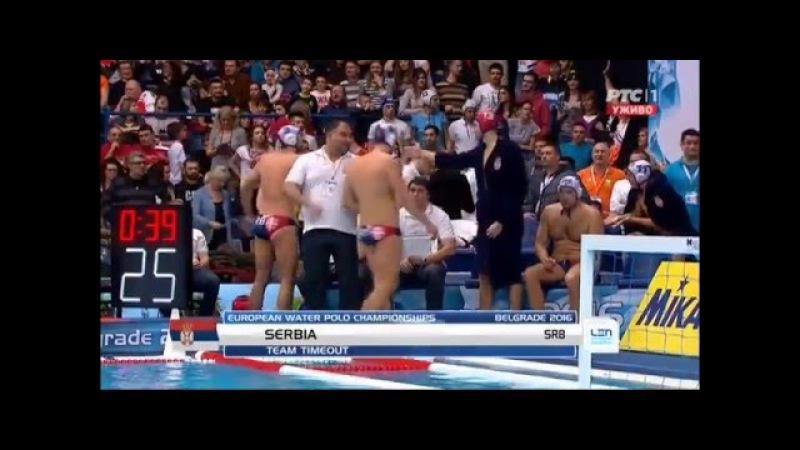 Vaterpolo EP Srbija Slovačka osmina finala 10 5 16 1 2016
