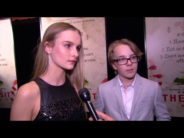 The Visit Olivia DeJonge Ed Oxenbould New York Red Carpet Premiere