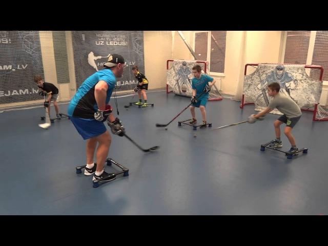 Off-Ice Hockey training Stickhandling workout.