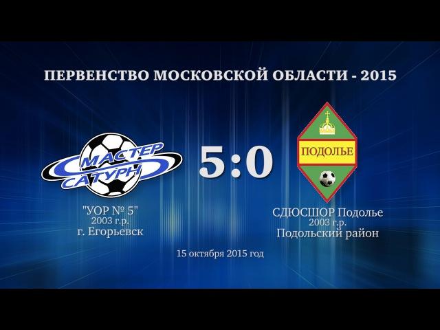 Матч команды 2003 г р 15 октября 2015 год