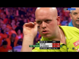 Phil Taylor vs Michael van Gerwen (2016 Premier League Darts / Week 15)