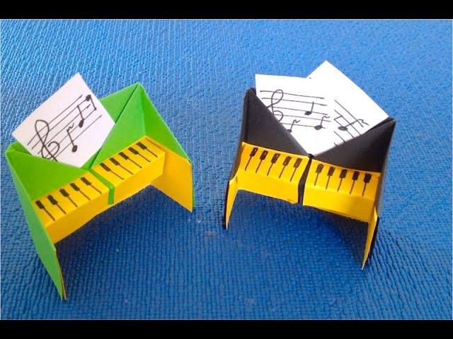 DIY Как сделать мебель для кукол своими руками♡ Пианино бумажное
