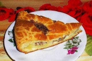 Быстрый пирог на кефире со сметаной - оооочень...