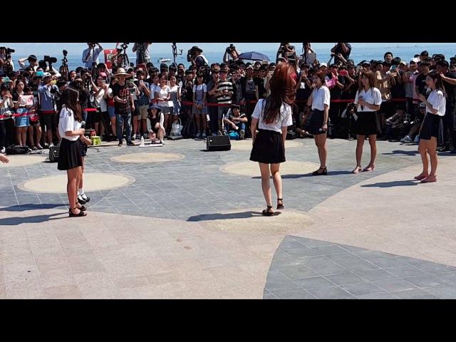 160709 부산 해운대 해수욕장 다이아 DIA 버스킹 은진이 댄스 안보면 섭하죠