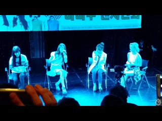 140816 Mamamoo performs Love Lane OST at their second fansign in Sinchon